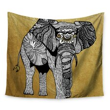 Golden Elephant by Pom Graphic Design Wall Tapestry