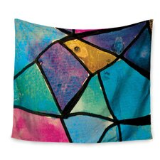 Stain Glass 2 by Theresa Giolzetti Wall Tapestry