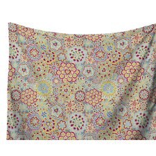 My Happy Flowers in Red by Julia Grifol Wall Tapestry