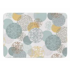 Floating Circles Design by Maike Thoma Memory Foam Bath Mat
