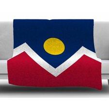 Denver Colorado City Flag by Bruce Stanfield Fleece Blanket