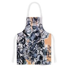 Inky Bouquet by Sonal Nathwani Artistic Apron