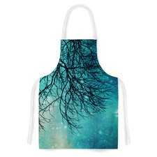 Winter Moon by Sylvia Cook Artistic Apron
