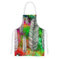 Feather by Suzanne Carter Rainbow Space Artistic Apron