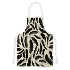 Feather Pattern Artistic Apron