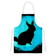 Blue Moon Bunny Artistic Apron