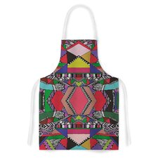 African Motif by Vasare Nar Artistic Apron