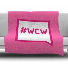 Women Crush Wednesday by KESS Original Fleece Blanket
