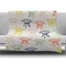 Rainbow Poppies by Gukuuki Fleece Blanket