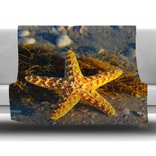 Starfish by Philip Brown Fleece Blanket