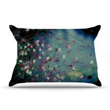 Monet's Dream by Ann Barnes Dark Flower Cotton Pillow Sham