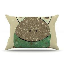 Frog by Bri Buckley Tan Cotton Pillow Sham