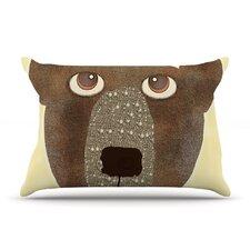 Bear by Bri Buckley Tan Cotton Pillow Sham