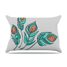 Feathers by Brienne Jepkema Teal Featherweight Pillow Sham