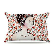 Spring Fashion by Brittany Guarino Flowers 40 by 20-Inch Cotton Pillow Sham, King