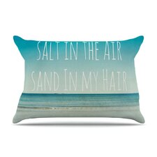 Salt in the Air by Debbra Ober ec Ocean Typography Featherweight Pillow Sham