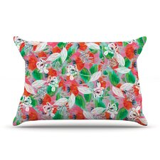 Flying Tulips by Akwaflorell Featherweight Pillow Sham, Green
