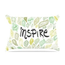 Inspire Nature Green by Pom Graphic Design Cotton Pillow Sham