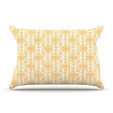 Diamonds by Apple Kaur Designs Squares Cotton Pillow Sham