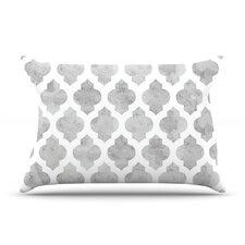 Gray Moroccan by Amanda Lane Cotton Pillow Sham