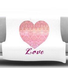 Love by Pom Graphic Design Fleece Throw Blanket