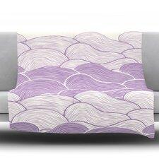 The Lavender Seas by Pom Graphic Design Fleece Throw Blanket