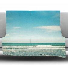 The Ocean by Susannah Tucker Fleece Throw Blanket