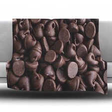 Yay! Chocolate by Libertad Leal Fleece Throw Blanket