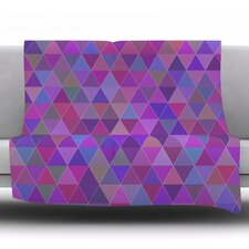 Abstract by Louise Fleece Throw Blanket