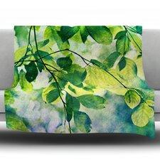 Leaves by Sylvia Cook Fleece Throw Blanket
