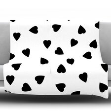 Hearts by Suzanne Carter Fleece Throw Blanket