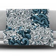 Celtic Floral II by Nick Atkinson Fleece Throw Blanket