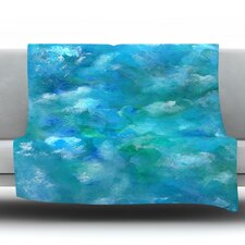 Ocean Waters by Rosie Fleece Throw Blanket
