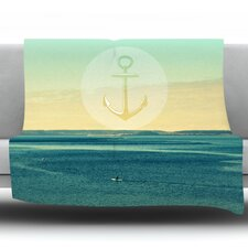 Row Your Own Boat by Robin Dickinson Fleece Throw Blanket
