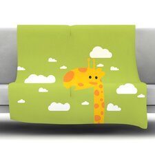 Baby Giraffe Fleece Throw Blanket