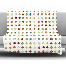 Fruit Fleece Throw Blanket