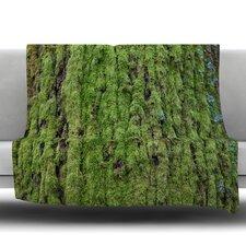Emerald Moss Fleece Throw Blanket