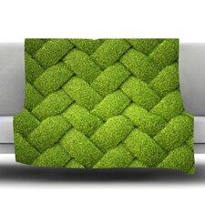 Ivy Basket Fleece Throw Blanket