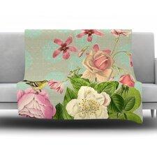 Vintage Garden Cush by Suzanne Carter Fleece Throw Blanket