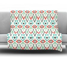 Tribal Marrakech by Pom Graphic Design Fleece Throw Blanket