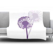 Dandelion by Monika Strigel Fleece Throw Blanket