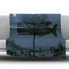 Whale Watch Fleece Throw Blanket