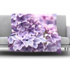 Lilac by Sylvia Cook Fleece Throw Blanket