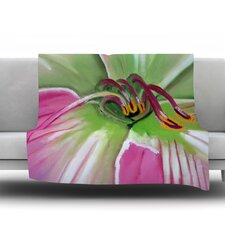 Pink and Green by Cathy Rodgers Fleece Throw Blanket