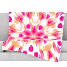 Batik Mandala Throw Blanket