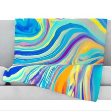 Rainbow Swirl Throw Blanket