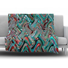 Abstract Wave by Suzanne Carter Fleece Throw Blanket