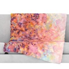 Blushed Geometric Fleece Throw Blanket
