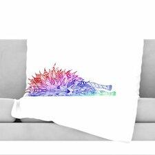 Rainbow Lion Fleece Throw Blanket