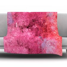 Cotton Candy by CarolLynn Tice Fleece Throw Blanket